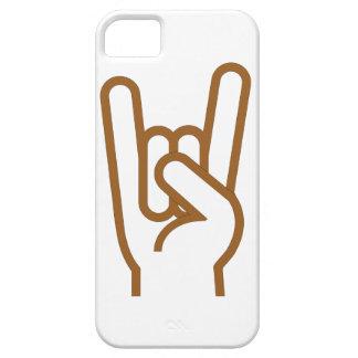 Mano del metal iPhone 5 carcasas