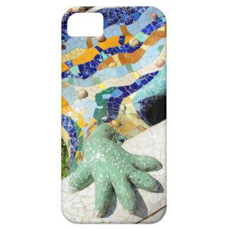 Mano del mosaico de Gaudi iPhone 5 Carcasas