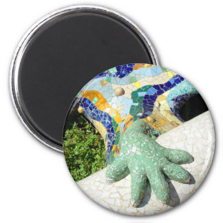 Mano del mosaico - imán fresco