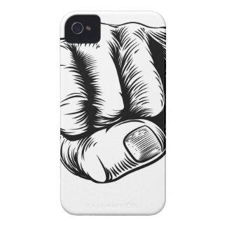 Mano del puño del dinero del efectivo carcasa para iPhone 4