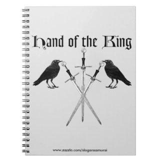 Mano del rey libros de apuntes