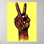 Mano del signo de la paz poster