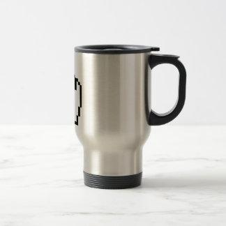 Mano del tecleo del cursor tazas de café