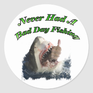 Mano del tiburón pegatina redonda