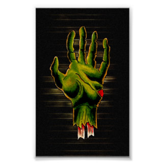 Mano del zombi poster