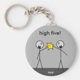 ¡mano dura high5, 5! ¡, altos cinco! , - DTT Llavero Personalizado