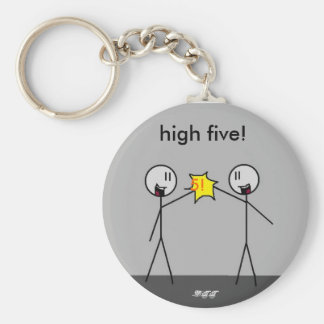 ¡mano dura high5, 5! ¡, altos cinco! , - DTT Llavero Redondo Tipo Pin