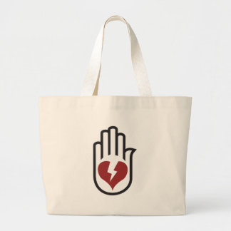 Mano en el corazón - punk alternativo de la roca d bolsas de mano