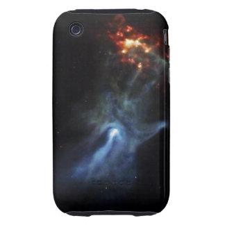 Mano en espacio tough iPhone 3 funda