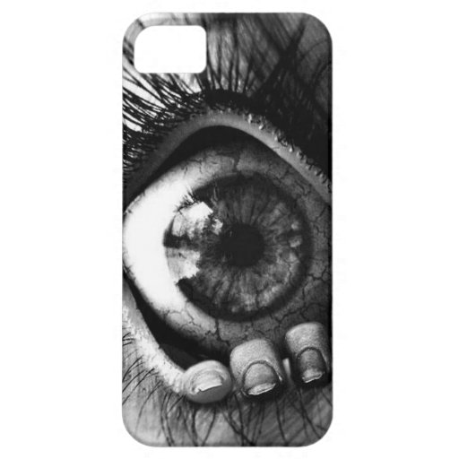 mano en ojo iPhone 5 protector