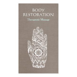 Mano espiritual 3 del tatuaje de Lotus de la Tarjetas De Visita