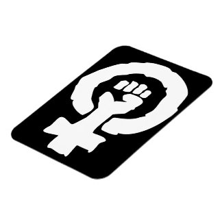 Mano femenina universal de la solidaridad del símb imán rectangular