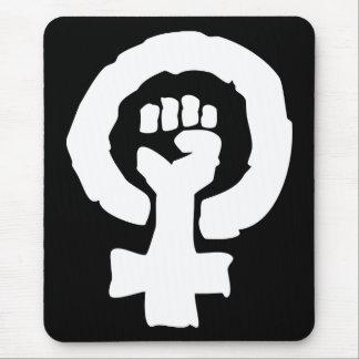 Mano femenina universal de la solidaridad del símb alfombrillas de ratones