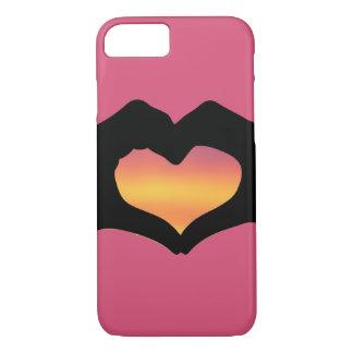 mano-funda del amor para el iPhone 7 Funda iPhone 7