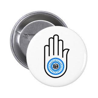 Mano Jain Pin Redondo De 2 Pulgadas