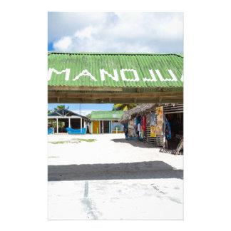 Mano Juan village in Saona Domenican Republic Stationery