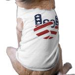 Mano los E.E.U.U. de la roca Playera Sin Mangas Para Perro