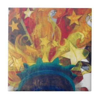 """""""Mano mercancía de la libertad"""" de Frances Byrd Azulejo Cuadrado Pequeño"""