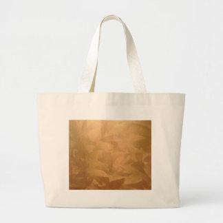 Mano metálica de cobre cepillada bolsa tela grande