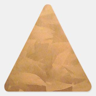Mano metálica de cobre cepillada pegatina triangular