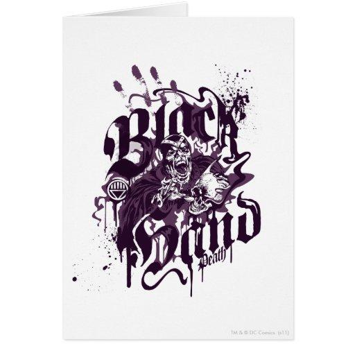 Mano negra - collage púrpura felicitaciones