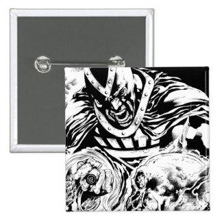 Mano negra con el panel 2 del cráneo pin cuadrado