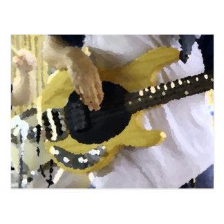 mano painterly del bajo de secuencia del amarillo postales