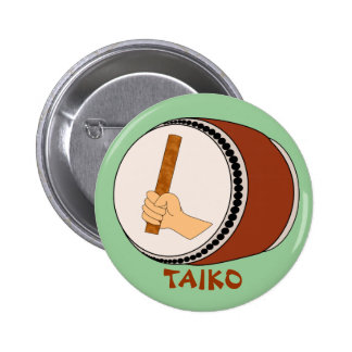 Mano que celebra teclear japonés del tambor de pin redondo de 2 pulgadas