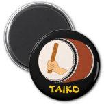 Mano que celebra teclear japonés del tambor de Tai Imán Para Frigorífico