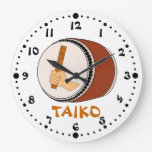 Mano que celebra teclear japonés del tambor de Tai Relojes