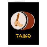Mano que celebra teclear japonés del tambor de Tai Tarjetas