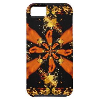 Mano que estrella fractal congelado de la flor iPhone 5 funda