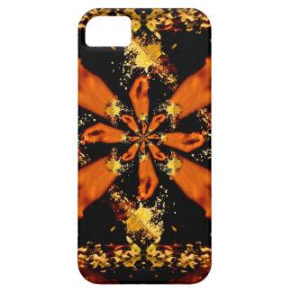 Mano que estrella fractal congelado de la flor iPhone 5 Case-Mate cobertura
