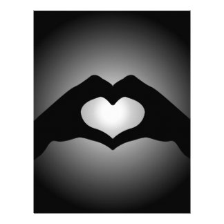 mano que hace el corazón de la muestra membretes personalizados
