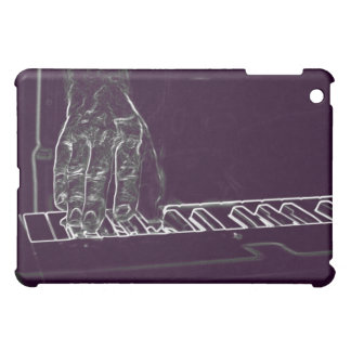 mano que juega el esquema blanco púrpura de la tin