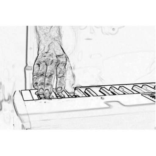 mano que juega el esquema de la tinta del bw del t escultura fotográfica