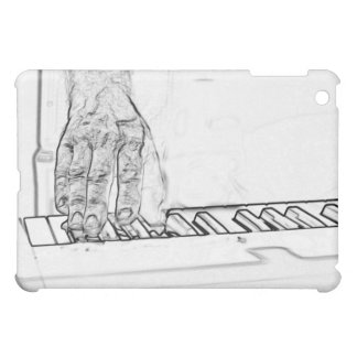 mano que juega el esquema de la tinta del bw del t