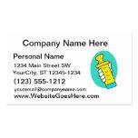 Mano que sostiene el biberón amarillo abstracto tarjeta de negocio