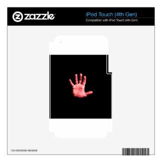 Mano roja iPod touch 4G skin