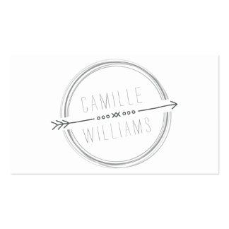 Mano rústica fresca gris del LOGOTIPO MODERNO de Tarjetas De Visita
