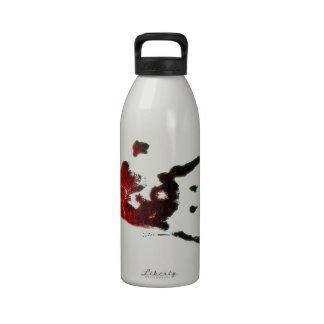 Mano sangrienta del zombi botella de beber