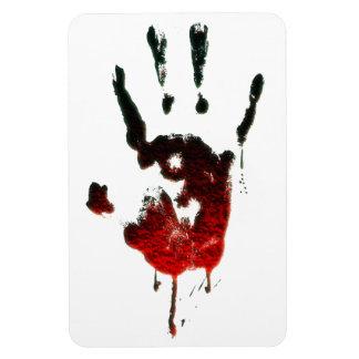 Mano sangrienta del zombi imanes flexibles