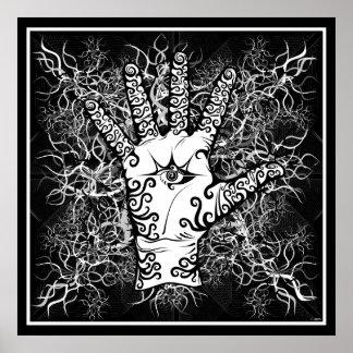 mano/sensación/electricidad - poster