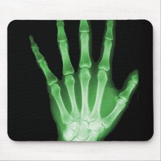Mano verde del esqueleto de la radiografía tapete de raton
