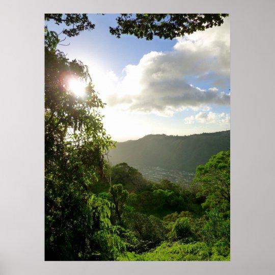 Manoa Valley, Hawaii Poster