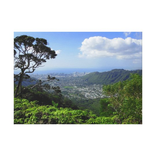 Manoa Valley to Waikiki Canvas Print