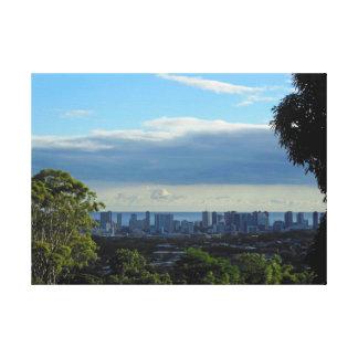 Manoa valley to Waikiki, Oahu, Hawaii Canvas Print