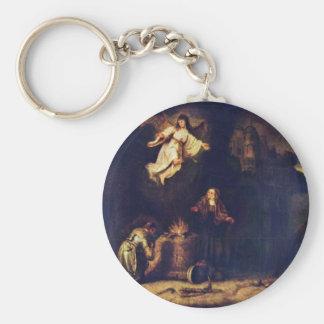 Manoah'S Sacrifice By Govert Flinck Key Chain