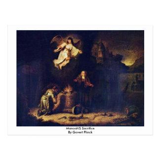 Manoah'S Sacrifice By Govert Flinck Post Cards
