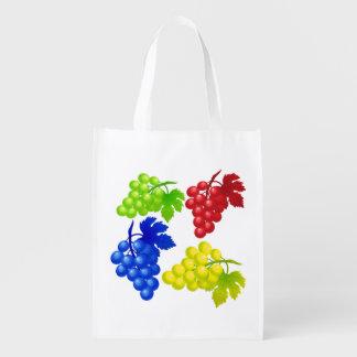 Manojo abstracto del vector de uvas bolsa de la compra